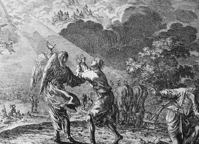 Teachings_of_Jesus_38_of_40._the_rapture._one_in_the_field._Jan_Luyken_etching._Bowyer_Bible